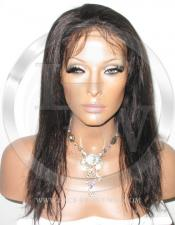 Silky Straight Lace Front Wig Human Hair 12 Inch Color 1B