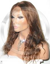 Bodywave Lace Front Wig Human Hair 12 Inch Color 4