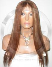 Yaki Straight Full Lace Front Wig Color 4 27 - 20 Inch