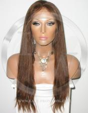 Straight Full Lace Front Wig Color 4 - 20 Inch