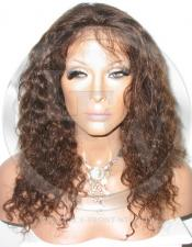 Curly Full Lace Front Wig Color 4 - 14 Inch