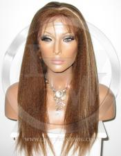 Yaki Straight Full Lace Front Wig Color 4 27 - 16 Inch