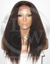 Yaki Kinky Full Lace Front Wig Color 1b 33 - 16 Inch