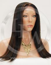 Silky Straight Synthetic Lace Front Wig 16 Inch Color 1b/30