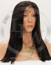 Silky Straight Synthetic Lace Front Wig 16 Inch Color 2